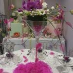 Composition florale sur coupe martini